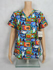 """Med Couture Halloween Scrub Top Style 9424 Anna. """"Spooky Nights"""" SPKN ~NEW~"""