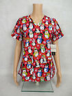 "Med Couture Christmas Scrub Top Style 9424 Anna. ""Penguin Dance"" PGDA *NEW*"