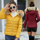 Womens Winter Coat Ladies Jacket Down Padded Collar Warm Hooded Outwear