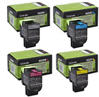 Lexmark 802 Return Program Toner Cartridge (Yield 1000 Pages) Black/Y/M/C