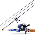Fishing Rod Baitcasting Fishing Combos with Reel Left Right Tackle Gear Kits
