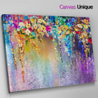 AB1535 Purple Blue Modern Floral Abstract Wall Art Picture Large Canvas Print