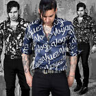NewStylish Mens Fashion Casual Tops Classic Patterned Silky Shirts