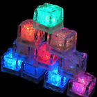 12/24PCS LED Waterproof Flash Ice Color Flashing Light Ice Cubes Xmas Party HL