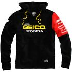 100% Geico Honda Team Off Road Dirt Bike Factory Mens Full Zip Hoody
