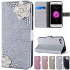 Cards Stent Flip PU Leather Mosaic Diamond Pattern Case Cover For Samsung S7 S8