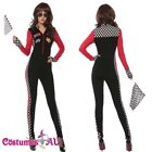 Ladies Miss Racer Racing Sport Driver Costume Super Car Grid Girl Jumpsuit Hot