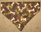 Camouflage Dog Bones Dog Bandana - 5 sizes XS - XL