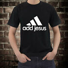 New Add Jesus T-Shirt Christian Parody tee Free Shipping