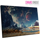 SC669 fantasy space planet landscape Scenic Wall Art Picture Large Canvas Print