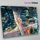 SC517 modern city movement photo Scenic Wall Art Picture Large Canvas Print