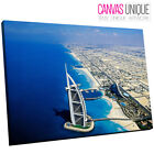 SC405 Dubai Stunning Coastline Scenic Wall Art Picture Large Canvas Print