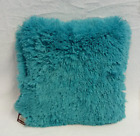 Turquoise Soft Shaggy Cushion Throw Pillow - 10 Colors