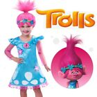 Kids Trolls Costume Little Girls Princess Poppy Cosplay Outfits Dress Halloween