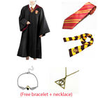 Harry Potter Gryffindor Robe Cloak Adult Kid Custom Cape + Tie +Scarf Set Cos