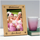 Thank You For Being My Bridesmaid Personalised Engraved Photo Frame Gift Present