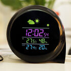 YUANGUANGHAO YGH-312 Comma Shape Weather Station Digital Alarm Clock Table Clock