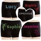 PERSONALISED Gymnastics / Dance Shorts (DOUBLE LINE)  Smooth Velour **UK STOCK**