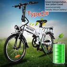 25Inch 18inch 7~21 Speed Folding Electric Mountain Bike Bicycle Ebike Lithium US