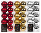 20 x Christmas Tree Baubles Xmas Decoration Bauble 60mm Shatterproof Glitter