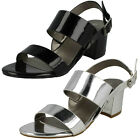 Anne Michelle F10732 Black Or Silver Patent Synthetic Strap Sandals