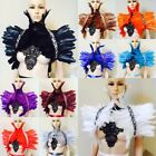 Feather Shrug Shoulder Wrap cape Collar feather capelet sequin swan feather