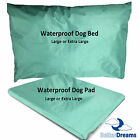 Black & Green Waterproof Dog Beds 2 Sizes With Removable Zipped Waterproof Cover