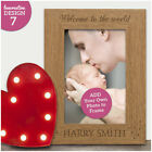 Welcome To The World Personalised Newborn Baby Photo Frame Keepsake Baby Gift