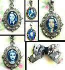 MORTICIA WEDNESDAY ADDAMS LILY MUNSTERS NECKLACE PENDANT KEYRING OR CHARM