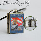 Moby Dick Book Locket (quote inside) Charm, Keychain or Pendant Necklace