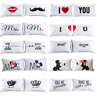 2PCS White Cotton Home Decor Standard Pillow Cases Bed Room Throw Cushion Cover image