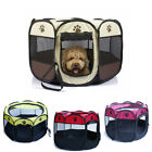 Octagonal Pet Tent Dog Fence Oxford Cloth Outdoor Cats Dogs Bed House Foldable