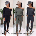 UK Womens One Shoulder Ripped Jumpsuit Ladies Evening Party Playsuit Size 6 - 14