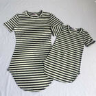 Mother And Daughter Casual Summer Stripe Dress Mom Baby Matching Set Outfits New