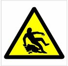 1027 Slippery Surface sign weatherproof Aluminium Plaque PVC or Vinyl Sticker