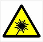 1017 Laser Beam sign 2 weatherproof Aluminium Plaque PVC or Vinyl Sticker