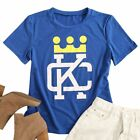 Women Crown Graphic O Neck Summer Casual Short Sleeve Tee Tops T-Shirt