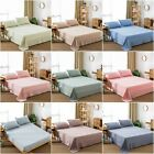 Cotton Solid Fitted Flat Sheets Set Queen King Size Bed Pillowcase New 11colors