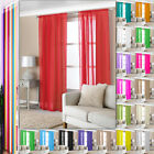 1 Pair Lucy Eyelet Ring Slot Top Voile Rod Panel Net Voile Lined Door Curtains