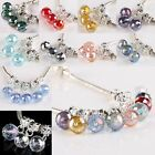 Faceted Crystal Glass Charm Loose Beads Findings Fit European Bracelet Jewelry