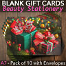 More images of Christmas Gift Vouchers Blank Beauty Salon Card Nail Massage x10 A7+Envelopes
