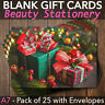 More images of Christmas Gift Vouchers Blank Beauty Salon Card Nail Massage x25 A7+Envelopes