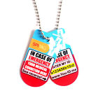 SPItag Medication Necklace Store Emergency Info Sends SMS Alert* to Contacts 50s
