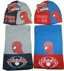 Boys Marvel Spidermam Winter Knit Hat & Scarf Set 3-12 year
