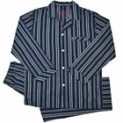Pyjamas Mens 100% Pure Cotton Long 2 pc PJs Set Navy Blue Stripe RRP $59.95 Sz S