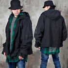 NewStylish Mens Fashion Casual Tops Oversized Hooded Black Jacket