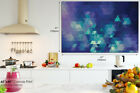 AB939 Blue Geometric Pattern Abstract Canvas Wall Art Framed Picture Print