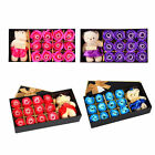 Love 12Pc Bath Rose Flowers Soap Valentines Party Xmas Day Gift Box Little Bear