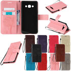 For Samsung Galaxy J3 J5 J7 Perx Prime Leather Hybrid Rugged Rubber Case Cover