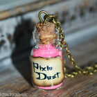 Cute small pink Pixie Dust Potion Bottle Vial Necklace - Peter Pan Tinkerbell